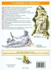 Versailles ; an history of the château - 4ème de couverture - Format classique