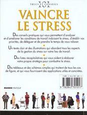 Vaincre Le Stress - 4ème de couverture - Format classique