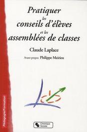 Pratiquer les conseils d'élèves et les assemblées de classes - Intérieur - Format classique