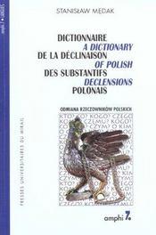 Dictionnaire De La Declinaison Des Substantifs Polonais - Intérieur - Format classique