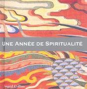 Une Annee De Spiritualite - Intérieur - Format classique