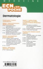 Dermatologie Tout Le Programme En Fiches L'Essentiel En Format Poche - 4ème de couverture - Format classique