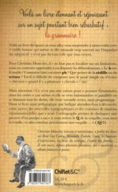 La grammaire parallèle - 4ème de couverture - Format classique