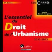 L'essentiel du droit de l'urbanisme (9e édition) - Couverture - Format classique