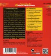 L'essentiel du droit de l'urbanisme (9e édition) - 4ème de couverture - Format classique