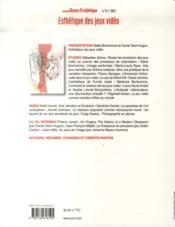 Nouvelle Revue D'Esthetique N.11 ; Esthétique Des Jeux Vidéo - 4ème de couverture - Format classique