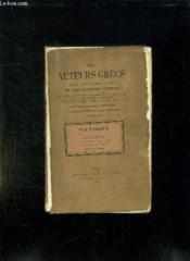 Les Auteurs Grec. Plutarque Vie De Pericles. - Couverture - Format classique