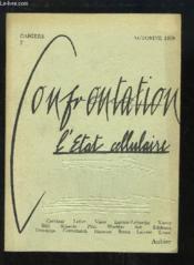 Cahiers Confrontation n°2 : L'Etat cellulaire. - Couverture - Format classique