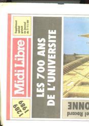 Supplement Au Midi Libre - Les 700 Ans De L'Universite - Couverture - Format classique