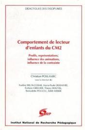 Comportement De Lecteur D'Enfants Du Cm2. Profils, Influence Des Anim Ations, Influence De La Contra - Couverture - Format classique