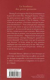 Le bonheur des petits poissons ; lettres des antipodes - 4ème de couverture - Format classique