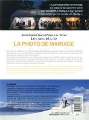 Les secrets de la photo de mariage - 4ème de couverture - Format classique