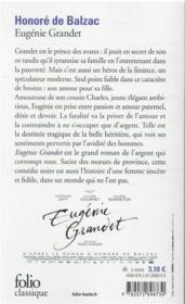 Eugénie Grandet - 4ème de couverture - Format classique