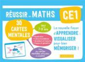 Réussir en maths ; CE1 ; 30 cartes mentales - Couverture - Format classique