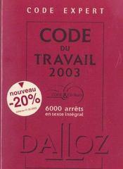 Code Expert ; Code Du Travail 2003 - Intérieur - Format classique