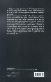 Guerres du milieu (les) - 4ème de couverture - Format classique