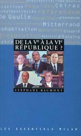 La cinquieme republique a la sixieme republique - Intérieur - Format classique