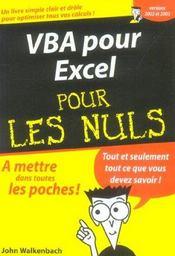 Vba Pour Excel - Intérieur - Format classique
