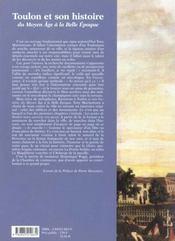 Toulon et son histoire tome 1 - 4ème de couverture - Format classique