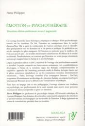 Émotion et psychothérapie - 4ème de couverture - Format classique