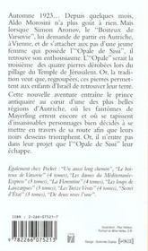 Le boiteux de varsovie - tome 3 l'opale de sissi - 4ème de couverture - Format classique
