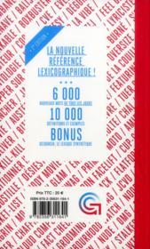 Grodico 2013 ; dictionnaire du Français tel qu'on le parle - 4ème de couverture - Format classique