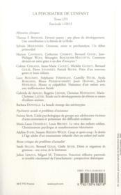 REVUE LA PSYCHIATRIE DE L'ENFANT N.56/1 ; devenir parent - 4ème de couverture - Format classique