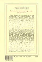 La Bonne Et La Mauvaise Peinture - 4ème de couverture - Format classique