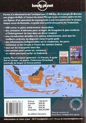 Indonesie - 4ème de couverture - Format classique