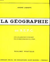 La Geographie Au B.E.P.C. - Couverture - Format classique