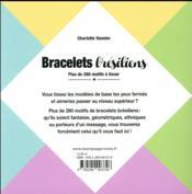 Bracelets brésiliens ; plus de 260 motifs à tisser - 4ème de couverture - Format classique