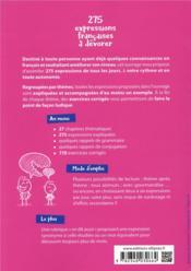 FLE ; A2-B1 ; 270 expressions françaises à dévorer - 4ème de couverture - Format classique