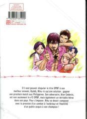 Riku-Do ; la rage aux poings T.18 - 4ème de couverture - Format classique