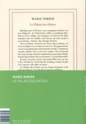 Le palais des orties - 4ème de couverture - Format classique