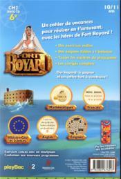 Fort Boyard ; le cahier de vacances ! du CM2 à la 6e (édition 2021) - 4ème de couverture - Format classique