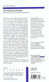 Les ficelles du métier ; comment conduire sa recherche en sciences sociales - 4ème de couverture - Format classique