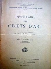 INVENTAIRE DES OBJETS D'ART. (Poids de 800 grammes) - Intérieur - Format classique