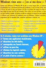 Windows xp : je vous depanne en 5 minutes - 4ème de couverture - Format classique