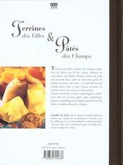 Terrines Des Villes Et Pates Des Champs - 4ème de couverture - Format classique