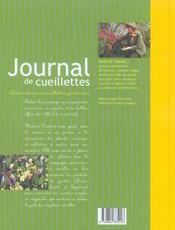 Journal De Cueillettes - 4ème de couverture - Format classique