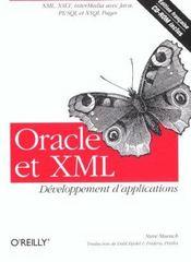 Oracle Et Xml Developpement D Applications - Intérieur - Format classique