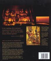 L egypte des pharaons - 4ème de couverture - Format classique
