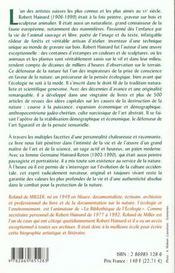 Robert Hainard ; peintre et philosophe de la nature - 4ème de couverture - Format classique