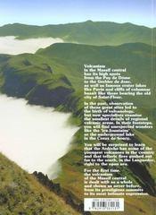 Know et little-know ; volcanoes of the massif central - 4ème de couverture - Format classique