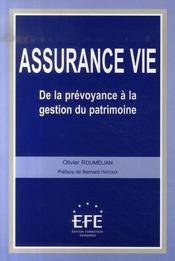 Assurance-vie ; de la prévoyance à la gestion du patrimoine - Intérieur - Format classique