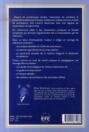 Assurance-vie ; de la prévoyance à la gestion du patrimoine - 4ème de couverture - Format classique