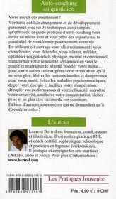 Auto-coaching au quotidien ; l'apport de la sophrologie - 4ème de couverture - Format classique