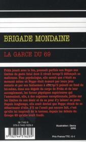 Brigade mondaine t.308 ; la garce du 69 - 4ème de couverture - Format classique