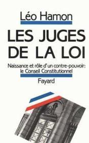 Les juges de la loi - Couverture - Format classique