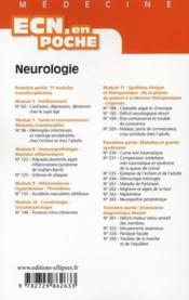 Neurologie Tout Le Programme En Fiches L'Essentiel En Format Poche Valides Par Des Hospitaliers - 4ème de couverture - Format classique